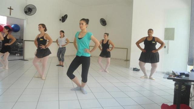 Primeira aula de Ballet adulto.